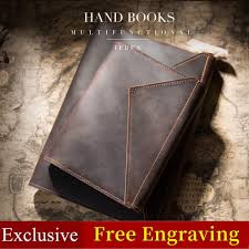 travelers notebook 100 genuine leather exercise book design pocket journal diary gift for men women a5 a6 refillable planner malaysia