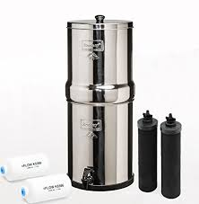 berkey water filter fluoride. Berkey Bk4X2-Bb Big Filtration System With 2 Black Filters And Fluoride Filters: Amazon.co.uk: Large Appliances Water Filter E