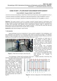Research Paper On Heat Exchanger Design Pdf Case Study 1 Plate Heat Exchanger With Gasket