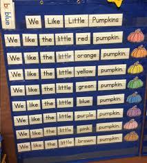 2 Scoops Of Kindergarten Pumpkin Pocket Chart Fun