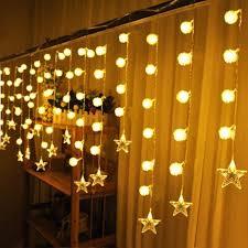 3 5m snowflake star pendant led string lights 90leds copper wire led for holiday party home decoration 220v globe light string white led string