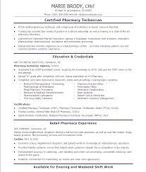 Pharmacy Tech Resume Template Adorable Entry Level Pharmacy Technician Resumes Pharmacy Technician Job