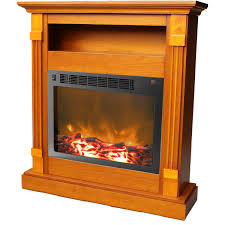 cambridge sienna fireplace mantel with electronic fireplace insert com