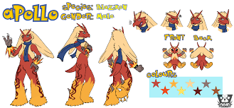 Apollo Blaziken Reference Sheet Weasyl