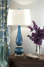 murano glass lamp beautiful vignette with cobalt blue glass lamp and lovely lilacs in a silver