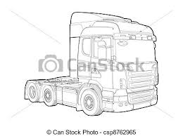 truck drawing outline. Contemporary Outline Outline Truck  Csp8762965 Inside Truck Drawing