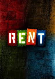 Rent Poster Musical Poster Rent Available As Poster Framed Canvas Many Sizes