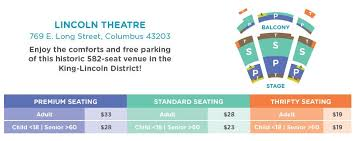 Southern Theater Seating Chart Lincoln Theatre Chart 2018 Columbus Childrens Theatre