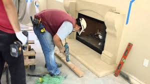 how to install a cast stone fireplace mantels over a prefab firebox by mantel depot you