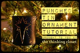 Punched Tin Ornament Tutorial — the thinking closet