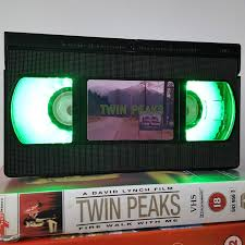 Retro Vhs Lamp Twin Peaks Night Light Table Lamp 90s Horror Order Any Movie Or Series Man Cave Display Great Birthday Gift Wedding