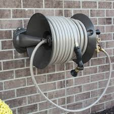 the ames decorative wall mount hose reel is designed to provide you with function and fashion for your garden and exterior of your home featuring unique fe