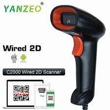 Yanzeo Taşınabilir El Kablolu Wirelress Barkod Tarayıcı 1D Qr Barkod Okuyucu  Pdf417 Ios Android Ipad Garanti