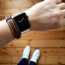graphic leather apple watch band 38mm 40mm 42mm 44mm