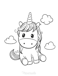 A large collection of unicorn coloring pages for kids. 75 Magical Unicorn Coloring Pages For Kids Adults Free Printables