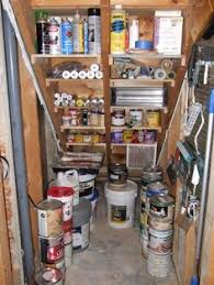 basement stairs storage. Shelves Built Into Stairs Under The | Tom\u0027s Tool Area? Put In  Standing Chest And Lights Shelves For Paint? OrganizingMadeFun.com Basement Storage T
