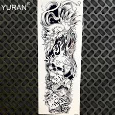 крылья призрака временные татуировки полный рукав рукава рыцарь татуировки