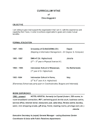 Examples For Objectives On Resume Good Objectives For Resumes