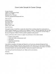 Sample Cover Letter For Change Of Career Guamreview Com