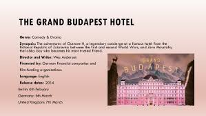 genre and target audience research the grand budapest hotel