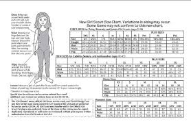 Scout Shirt Size Chart Size Chart Girl Scout Brownie Vest Girl Scout Vest Girl