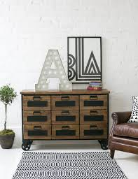 industrial furniture wheels. Industrial Apothecary Sideboard On Wheels Furniture