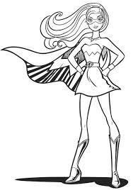 Disegno Di Barbie Kara Super Principessa Da Stampare Gratis E Colorare