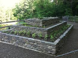 stone raised garden beds custom stone