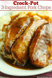 crock pot 3 ing pork chops
