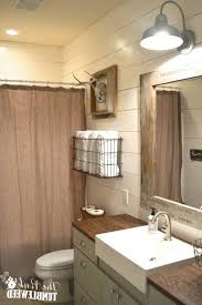 rustic bathroom lighting fixtures. farmhouse bathroom light fixtures for rustic makeover one room challenge the pink lighting
