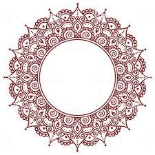 менди индийский хна татуировки или фон с рисунком стоковая