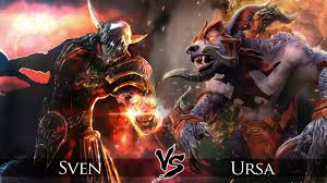 dota 2 ursa vs sven one click battle youtube