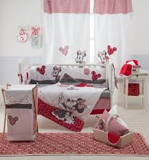 baby bedding sets red minnie mouse piece crib bedding set