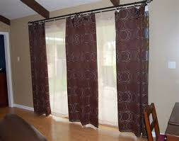 red sliding glass door curtain ideas double