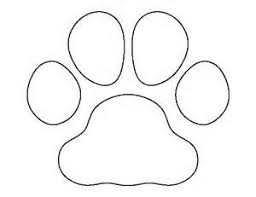 bulldog paw print outline. Beautiful Outline Bulldog Paw Print Outline With C