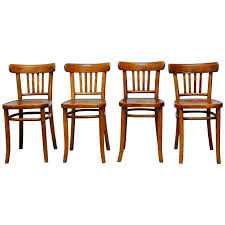 bentwood bistro chair. Set Of Four Thonet Style Bentwood Bistro Chairs For Sale Chair