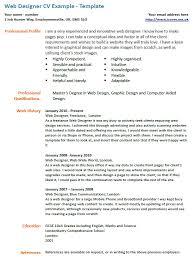 Cv London Cv Example Web Designer Icover Org Uk