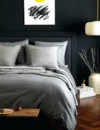 dark grey bedding. Dark Grey Bedding Charcoal Sets Duvet Cover Cotton Luxury Satin Fabric Solid L
