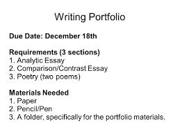 writing portfolio mr butner writing portfolio due date 2 writing portfolio