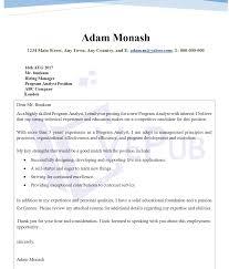 Programmer Analyst Cover Letter Business Service Vepub