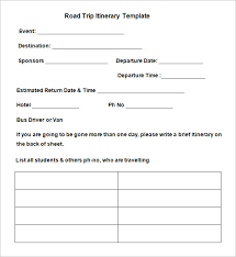 driver trip sheet template road trip itinerary template 9 free word excel pdf documents