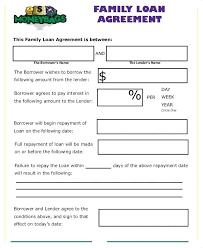 Family Loan Template Loan Agreement Form Uk Free Employee In Debt Template Getpicks Co