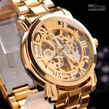 new automatic mechanical skeleton watches gold strap wrist auto shipping new automatic mechanical skeleton watches gold strap wrist auto men s watch