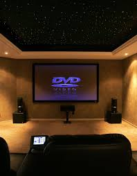 theater room lighting. spacious modern home theater room with landscape rectangular screen wall mounted alongside bronze marble lighting