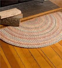 blue ridge half round wool braided rug 2 x 4 braided rugs in half throughout half