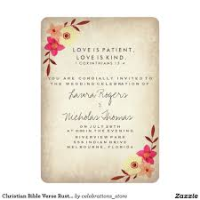 Christian Love Quotes For Wedding Invitations Best Of Christian Bible Verse Rustic Country Floral Invitation Pinterest