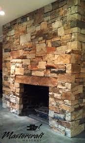 montana buff drystack fireplace face