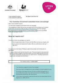care of letter are you approved or assigned a home care package understand the