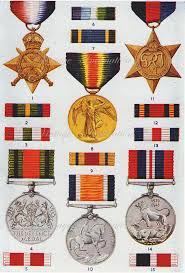 Medals And Ribbons Chart 1950 Antique British Medals Ribbons Print 2 Military Orders
