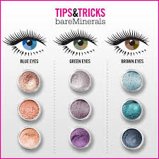 bare minerals eye makeup tips tricks chart purple is the best pigment for green eyes pinks for blues and blues for browns